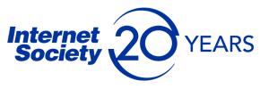 ISOC 20 Years logo