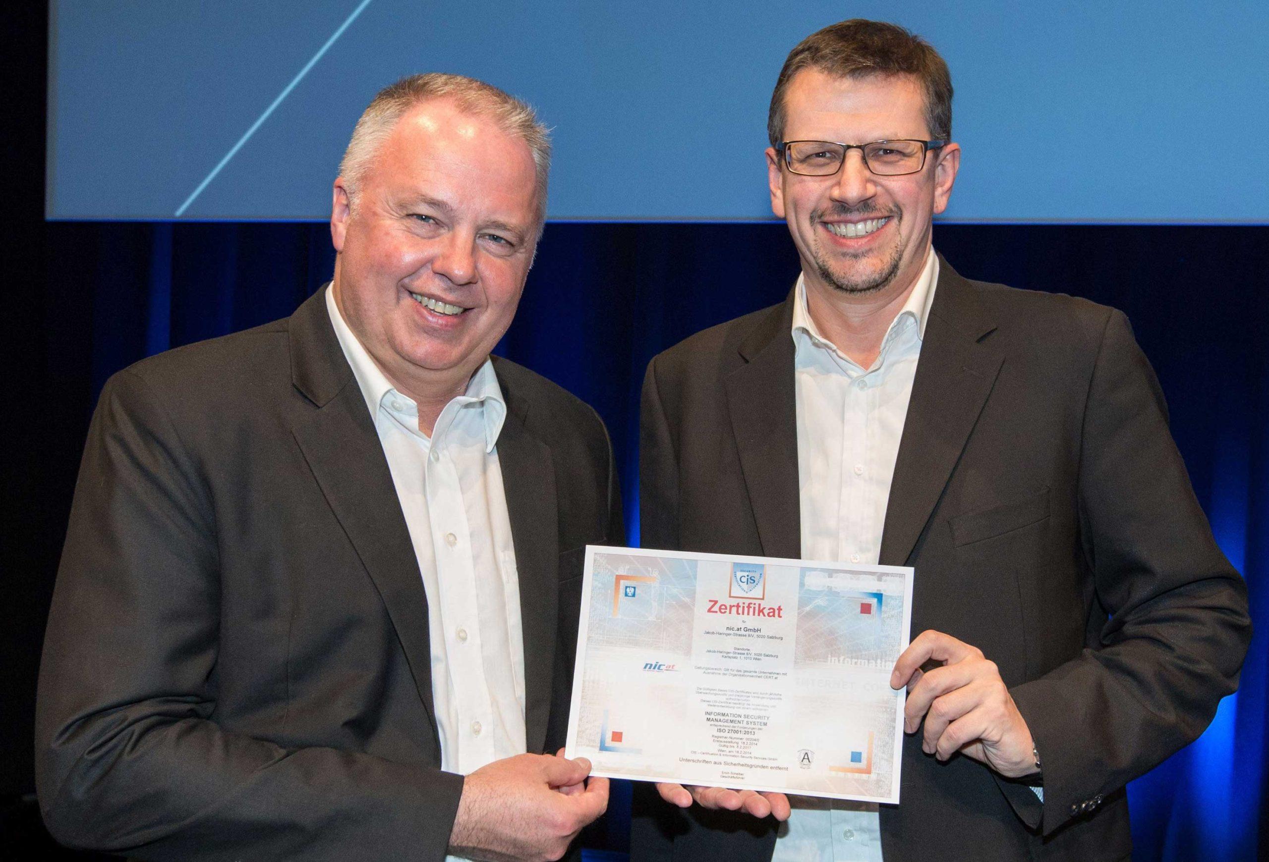 NicAT ISO Certificate DomainPulse 2014
