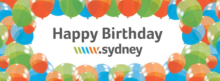 Happy Birthday Sydney gTLD