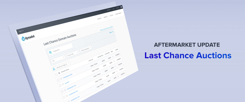 Dynadot Last Chance Domain Auctions image